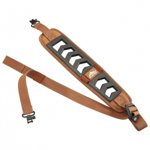 Featherlight Rifle Sling brown with Swivels